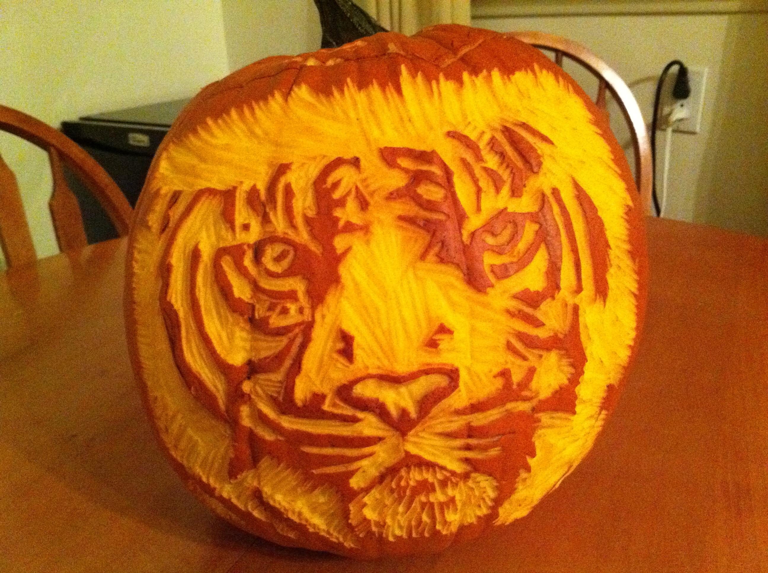 Pumpkin carving practice art of jen cotten